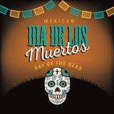 Dia de los Muertos avec le crâne de sucre Photos stock