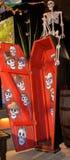 Dia de Los Muertos Coffin royaltyfri bild