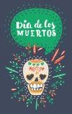 Dia DE Los Muertos Dag van de Dode vectoraffiche stock illustratie