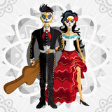 Dia De Los Muertos Day Of The Dead Bride. Bride Wedding Of Mexican Dia De Los Muertos Day Of The Dead Skull stock illustration
