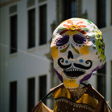 Dia de los muertos. Day of the Dead parade participant at the Santa Barbara Summer Solstice 2015 Royalty Free Stock Photography