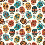 Dia de los muertos. Day of The Dead. Seamless pattern. Royalty Free Stock Image