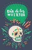 Dia de los Muertos Day du crâne mort de sucre illustration de vecteur