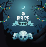 Dia de Los Muertos design Royalty Free Stock Photo