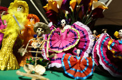 Dia de los Muertos dolls. Photo of decorated Day of the Dead dolls are shown in a shop during a Dia de los Muertos festival in Las Vegas, NV, USA Royalty Free Stock Photos
