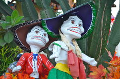Dia de Los Muertos Figures. Display of mother and father figures at Dia de Los Muertos celebration in San Diego Stock Photography