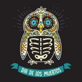 Dia De Los Muertos. Greeting card with sugar skull penguin Royalty Free Stock Photography