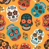 Dia de Los Muertos Jour des morts Configuration sans joint Image stock