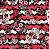 Dia de Los Muertos Jour des morts Configuration sans joint Images stock