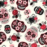 Dia de Los Muertos Jour des morts Configuration sans joint Image libre de droits