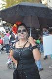 Dia de Los Muertos Lady arkivfoton