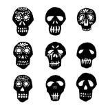 Dia de los Muertos mexican sugar skulls set Stock Photos
