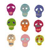 Dia de los Muertos mexican sugar skulls set Royalty Free Stock Photography