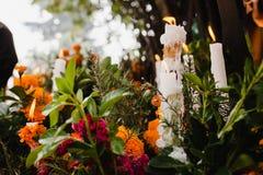 Free Dia De Los Muertos Mexico, Cempasuchil Flowers For Day Of The Dead, Mexico Cemetery Stock Photos - 160855163