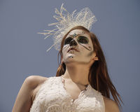 Dia De Los Muertos Model Stock Image