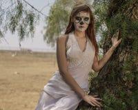 Dia De Los Muertos Model Royalty Free Stock Image