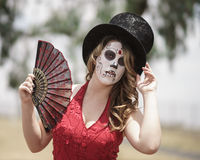 Dia De Los Muertos Model Royalty Free Stock Images