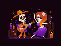 Dia de los Muertos - modern flat design style illustration stock illustration