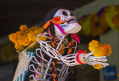 Dia de los muertos. OAXACA , MEXICO - NOV 02 : Traditional Mexican art installation at the Dia De Los Muertos celebration in Oaxaca , Mexico on November 02 2015 Stock Images
