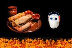 Dia De Los Muertos-ofrenda, Dag van de Doden die in México aanbieden stock foto's