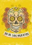Dia De Los Muertos plakat Zdjęcie Royalty Free