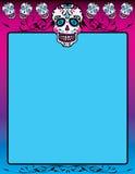 Dia De Los Muertos. Sugar Skull Background Template Wallpaper