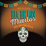 Dia de los Muertos with sugar skull Stock Photos