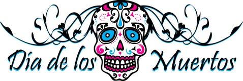 Dia De Los Muertos. Sugar Skull Logo Stock Photo
