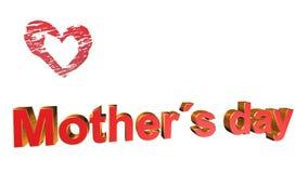 Dia de mães, animação Fotografia de Stock