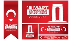 Dia 18 de março de Gallipoli da vitória e da relembrança dos mártir Imagens de Stock