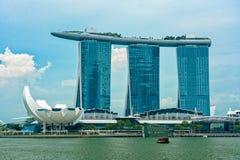 Dia de Marina Bay Sands imagens de stock
