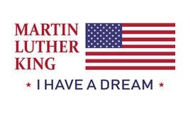 Dia de Martin Luther King, eu tenho um sonho, ilustração do ícone do vetor Foto de Stock Royalty Free