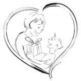 Dia de matriz feliz ilustração do vetor