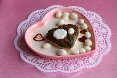 Dia de matrizes/cartão dos Valentim - foto conservada em estoque do presente Imagens de Stock Royalty Free