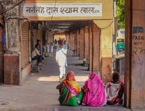 Dia de mercado em Jaipur fotografia de stock royalty free