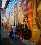 Dia de mercado no bairro chinês - San Francisco, CA Foto de Stock Royalty Free