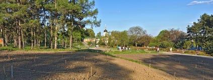 Dia de mola no jardim botânico de Kiev imagens de stock royalty free