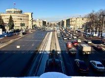Dia de Moskovsky Prospekt Sunny February Fotos de Stock Royalty Free