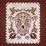 Dia de Muertos -死亡西班牙人的墨西哥天 免版税库存照片