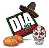 Dia de Muertos Day of the dead icon.  Royalty Free Stock Photos