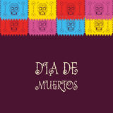 Dia de Muertos - dia mexicano do texto do espanhol da morte decoração Imagem de Stock Royalty Free