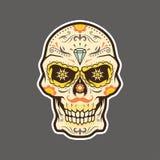 Dia de Muertos, El Muerto, Los Muertos, giorno del vettore morto del cranio immagini stock