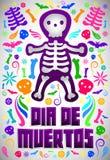 Dia de Muertos - Mexicaanse Dag van de doods Spaanse tekst vector illustratie