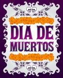 Dia de Muertos - Mexicaanse Dag van de doods Spaanse tekst royalty-vrije illustratie