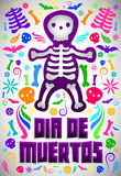 Dia de Muertos - Mexican Day of the death spanish text Royalty Free Stock Images