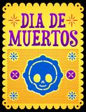 Dia de muertos, Mexican Day of the death spanish text stock illustration