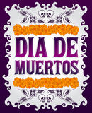 Dia de Muertos - Mexican Day of the death spanish text royalty free illustration