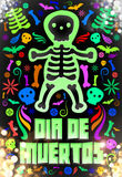 Dia de Muertos - Mexican Day of the death spanish text Stock Photography