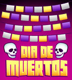 Dia de Muertos - Mexican Day of the death spanish text v Stock Images