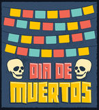 Dia de Muertos - Mexican Day of the death spanish text vector decoration stock illustration